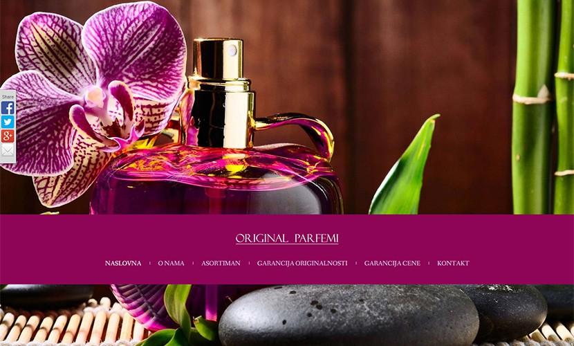 original-parfemi Izrada sajta