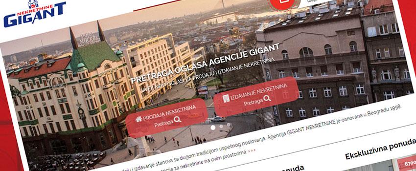 gigant-nekretnine Izrada sajtova za nekretnine