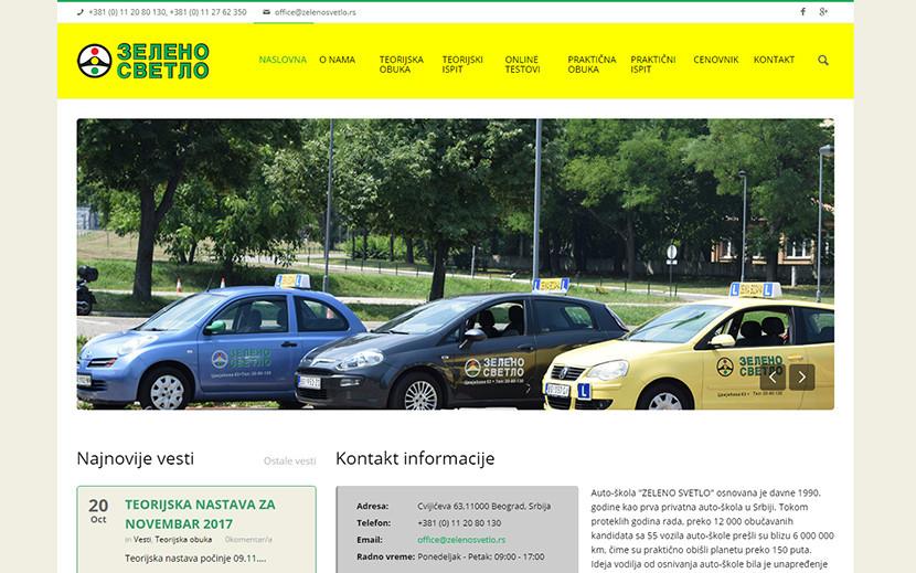 zeleno-svetlo Izrada sajta