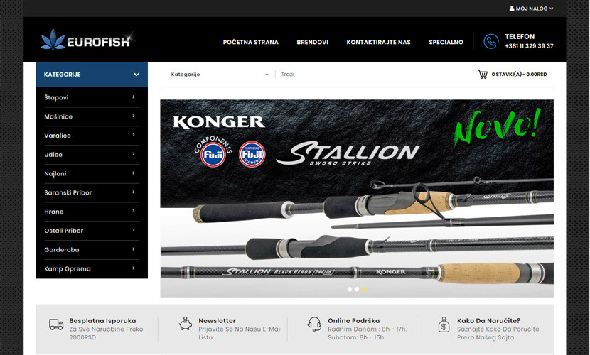 eurofish Izrada sajta